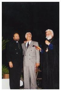 Nick Kossaras, V. Rev. Father John Bakas, His Eminence Metropolitan Anthony, of blessed memory